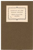Animals of the World United - Report of the Procedings of the Quinquennial & the Extraordinary World